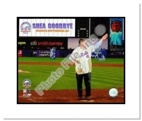 Tom Seaver New York Mets MLB Double Matted 8x10 Photograph Shea Stadium Farewell Night