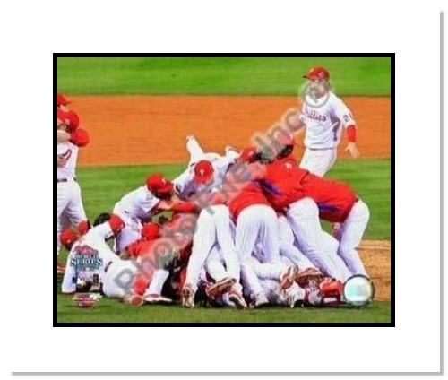 2008 Philadelphia Phillies MLB Double Matted 8x10 Photograph 2008 World Series Team Celebration