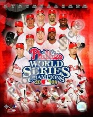 2008 Philadelphia Phillies MLB 8x10 Photograph 2008 World Series Team Collage