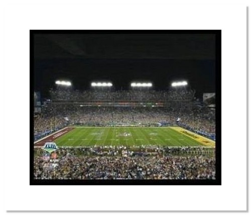 2009 Pittsburgh Steelers NFL Double Matted 8x10 Photograph Super Bowl XLIII Tampa Bay Field