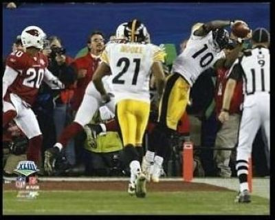 Santonio Holmes NFL 8x10 Photograph Super Bowl XLIII Game Winning Catch TD