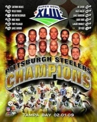 2009 Pittsburgh Steelers NFL 8x10 Photograph Super Bowl XLIII Tampa Bay Team Collage