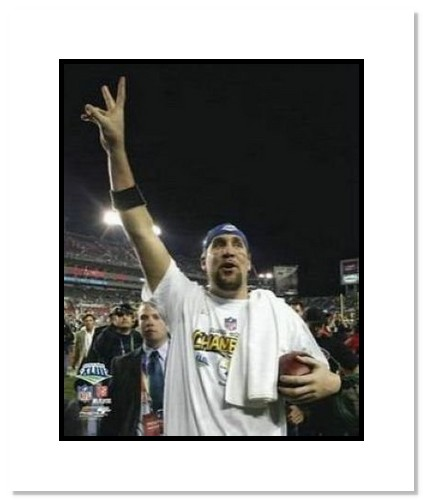 Ben Roethlisberger Pittsburgh Steelers NFL Double Matted 8x10 Photograph Super Bowl XLIII Hand Raised Celebration