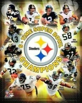 2009 Pittsburgh Steelers NFL 8x10 Photograph Super Bowl XLIII 6 Time Champion Collage