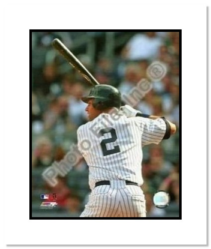 Derek Jeter New York Yankees MLB Double Matted 8x10 Photograph 2009 Batting