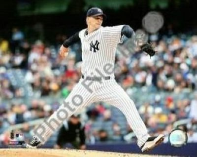 AJ Burnett New York Yankees MLB 8x10 Photograph 2009 Pitching