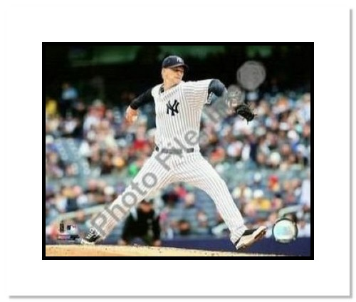 AJ Burnett New York Yankees MLB Double Matted 8x10 Photograph 2009 Pitching
