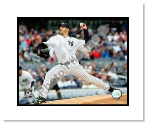 Andy Pettitte New York Yankees MLB Double Matted 8x10 Photograph 2009 Pitching
