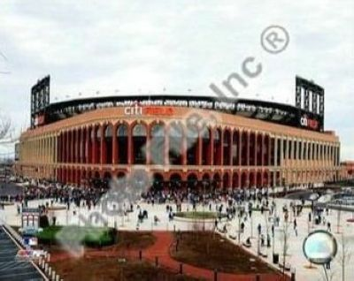 2009 New York Mets Citi Field Opening Day MLB 8x10 Photograph Outside Stadium