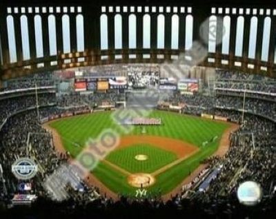 2009 New York Yankees New Yankees Stadium Opening Day MLB 8x10 Photograph Facade Foreground