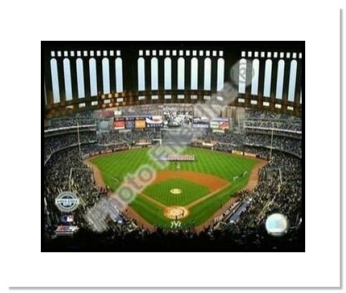 2009 New York Yankees New Yankees Stadium Opening Day MLB Double Matted 8x10 Photograph Facade Foreground