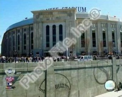 2009 New York Yankees New Yankees Stadium Opening Day MLB 8x10 Photograph Outside Stadium