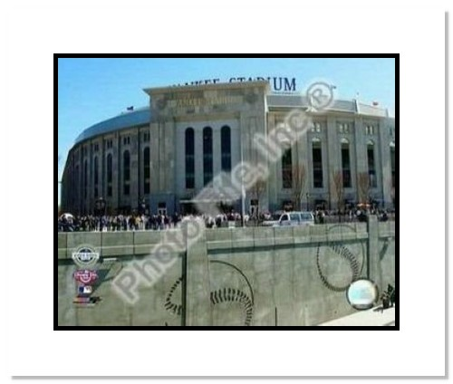 2009 New York Yankees New Yankees Stadium Opening Day MLB Double Matted 8x10 Photograph Outside Stadium