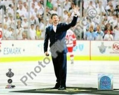 Mario Lemiuex Pittsburgh Penguins NHL 8x10 Photograph 2009 Stanley Cup Finals Drop Puck Ceremony