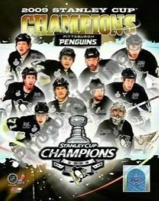 2009 Pittsburgh Penguins Stanley Cup Champions NHL 8x10 Photograph Team Collage