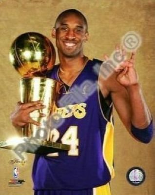 Kobe Bryant Los Angeles Lakers NBA 8x10 Photograph 2009 NBA Finals Championship Trophy 4x Winner