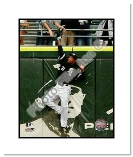 DeWayne Wise Chicago White Sox MLB Double Matted 8x10 Photograph 2009 Perfect Game Catch 7/23/09