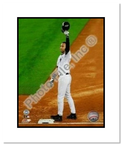 Derek Jeter New York Yankees MLB Double Matted 8x10 Photograph Career Hit 2,722 Cap Tip