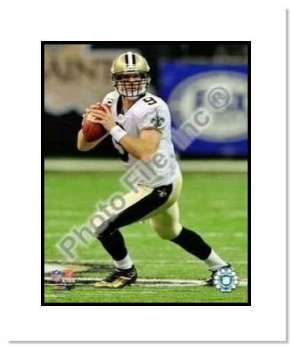 Drew Brees New Orleans Saints NFL Double Matted 8x10 Photographs Passing 2009
