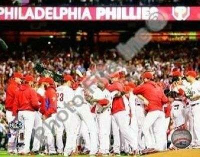Philadelphia Phillies MLB 8x10 Photograph 2009 NLCS Champions Team Celebration