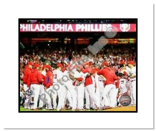 Philadelphia Phillies MLB Double Matted 8x10 Photograph 2009 NLCS Champions Team Celebration