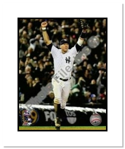 Alex Rodriguez New York Yankees MLB Double Matted 8x10 Photograph 2009 ALCS Game 6 Celebration