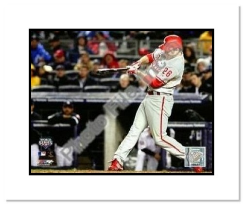 Chase Utley Philadelphia Phillies MLB Double Matted 8x10 Photograph 2009 World Series Game 1 HR