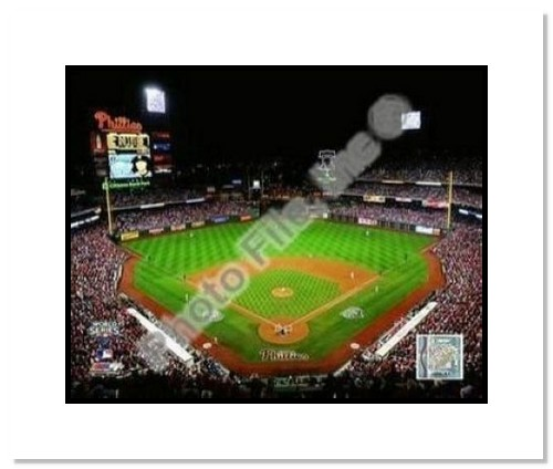 Philadelphia Phillies MLB Double Matted 8x10 Photograph 2009 World Series Game 3 Citizens Bank Ballpark