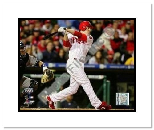 Chase Utley Philadelphia Phillies MLB Double Matted 8x10 Photograph 2009 World Series Game 3 HR