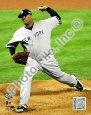 CC Sabathia New York Yankees MLB 8x10 Photograph 2009 World Series Game 4