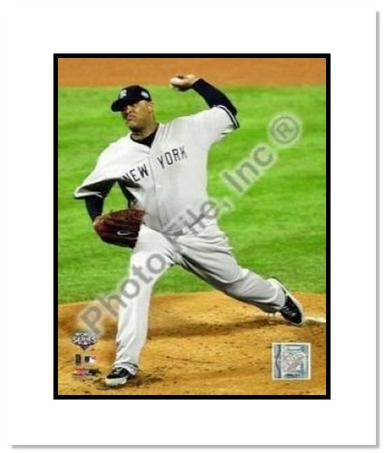 CC Sabathia New York Yankees MLB Double Matted 8x10 Photograph 2009 World Series Game 4