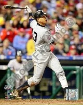 Alex Rodriguez New York Yankees MLB 8x10 Photograph 2009 World Series Game 3 HR