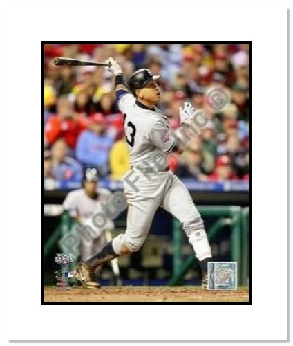 Alex Rodriguez New York Yankees MLB Double Matted 8x10 Photograph 2009 World Series Game 3 HR