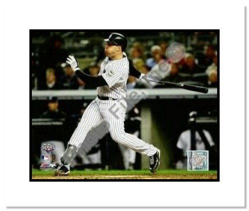 Mark Teixeira New York Yankees MLB Double Matted 8x10 Photograph 2009 World Series Game 2 HR