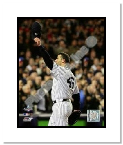 Andy Pettitte New York Yankees MLB Double Matted 8x10 Photograph 2009 World Series Game 6 Cap Tip