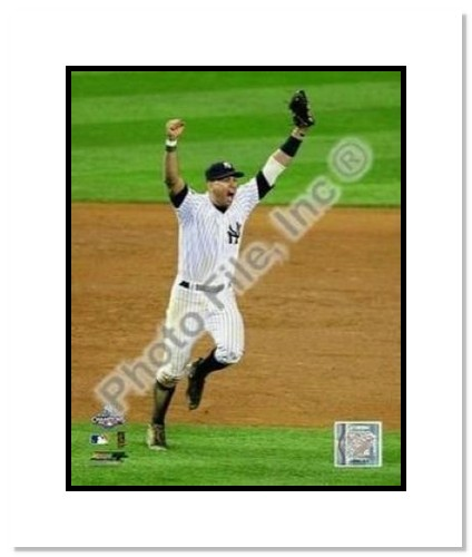 Alex Rodriguez New York Yankees MLB Double Matted 8x10 Photograph 2009 World Series Game 6 Celebration