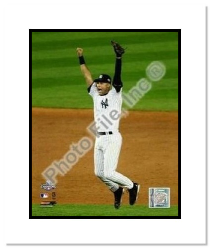 Derek Jeter New York Yankees MLB Double Matted 8x10 Photograph 2009 World Series Game 6 Celebration