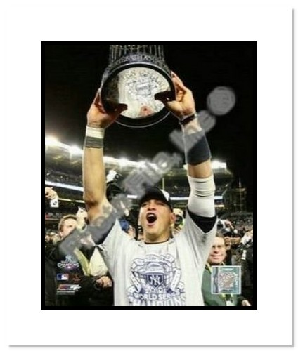 Alex Rodriguez New York Yankees MLB Double Matted 8x10 Photograph 2009 World Series Trophy