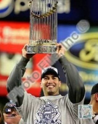 Andy Pettitte New York Yankees MLB 8x10 Photograph 2009 World Series Trophy