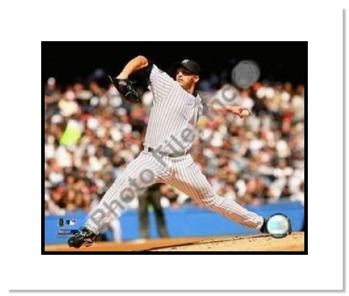 Andy Pettitte New York Yankees MLB Double Matted 8x10 Photograph Pitching Side View