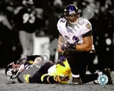 Ray Lewis Baltimore Ravens NFL 8x10 Photograph Spotlight