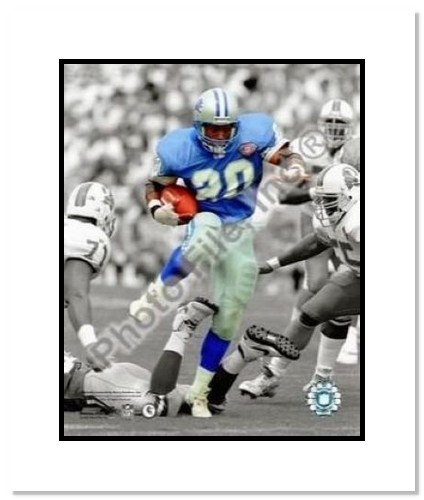 Barry Sanders Detroit Lions NFL Double Matted 8x10 Photograph Spotlight