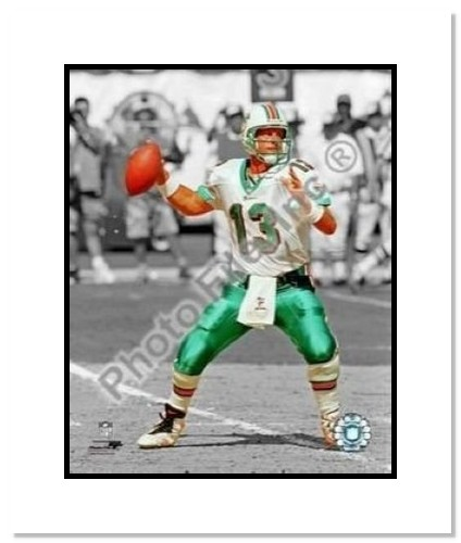 Dan Marino Miami Dolphins NFL Double Matted 8x10 Photograph Spotlight
