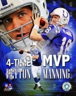 Peyton Manning Indianapolis Colts NFL 8x10 Photograph 4 Time MVP Collage