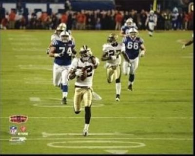 Tracy Porter New Orleans Saints NFL 8x10 Photograph Super Bowl XLIV Interception TD Run #1
