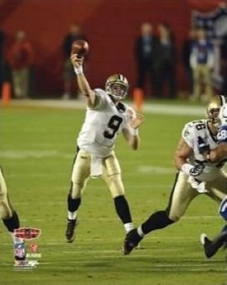 Drew Brees New Orleans Saints NFL 8x10 Photograph Super Bowl XLIV Passing