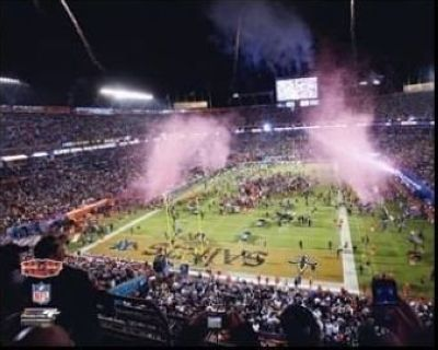 2010 New Orleans Saints NFL 8x10 Photograph Super Bowl XLIV Sun Life Stadium Post Game Celebration