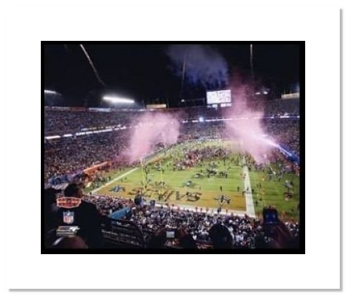 2010 New Orleans Saints NFL Double Matted 8x10 Photograph Super Bowl XLIV Sun Life Stadium Post Game Celebration