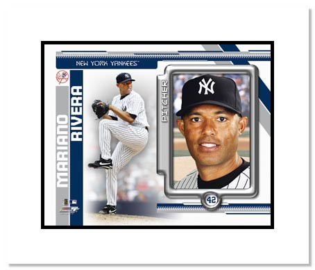 Mariano Rivera New York Yankees MLB Double Matted 8x10 Photograph 2010 Player Collage