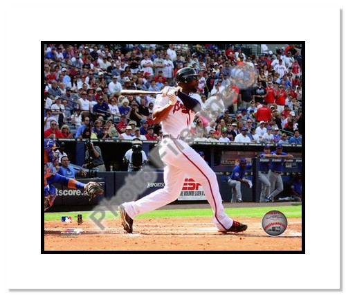 Jason Heyward Atlanta Braves MLB Double Matted 8x10 Photograph 2010 Batting